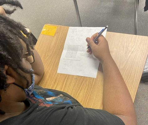 Student struggling in a writing class