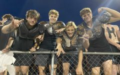 Joey Graham, Noah Richardson, Reese Carr, and Andrew Walton at the Mountain View home game.