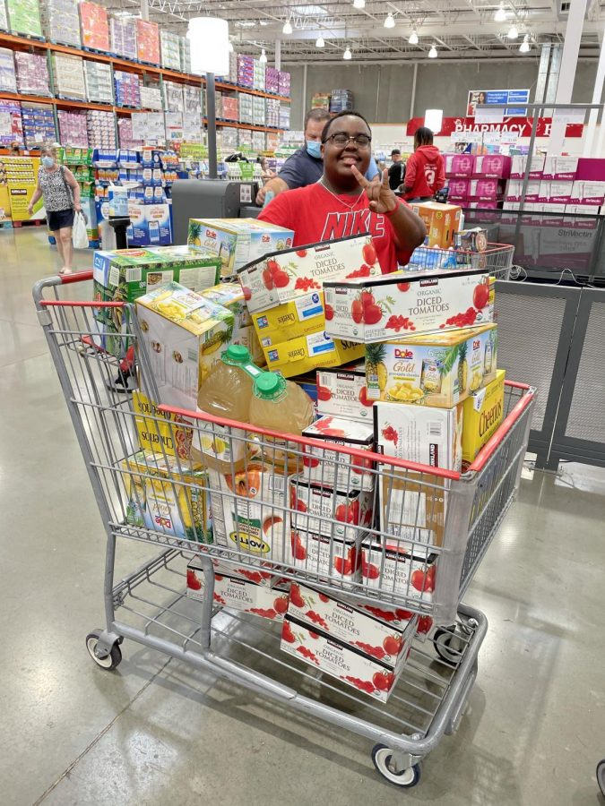 Senior Ayron Lackey on Student Councils first trip to Costco
