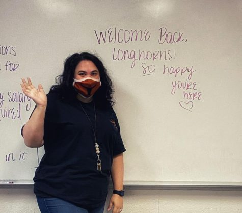 Ms. Leeman welcomes back students with open arms